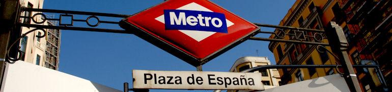 Madrid métro Plaza de España