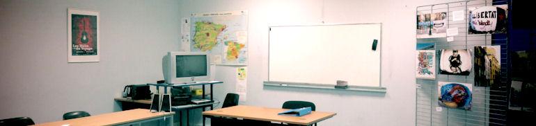 Salle de cours d'espagnol