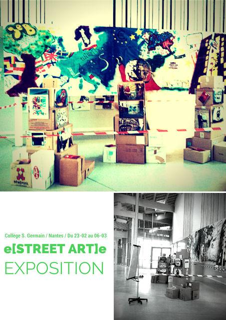 L'exposition e[STREET ART]e au Collège Sophie Germain, Nantes