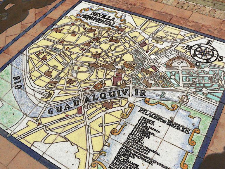 Plan de la ville de Séville