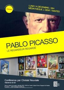"""Affiche de la conférence """"Picasso, le regardeur regardé"""""""